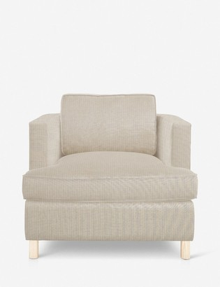 Lulu & Georgia Belmont Accent Chair, Stripe By Ginny Macdonald