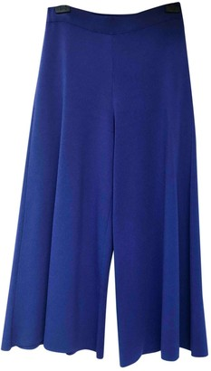 Theory Blue Viscose Trousers