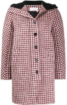 Chloé checked hooded coat