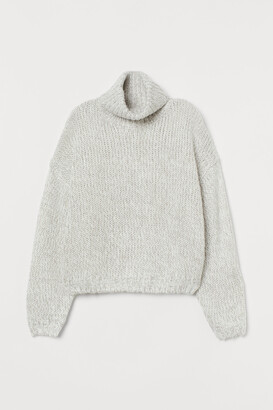 H&M Chunky-knit polo-neck jumper