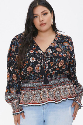Forever 21 Plus Size Floral Patchwork Tunic