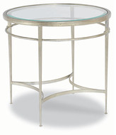 One Kings Lane Forbach Side Table - Silver Leaf