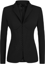 Essentials Bi-Stretch Cool-Wool Corset Jacket