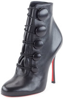 Christian Louboutin Booton Leather Red Sole Button Bootie, Black