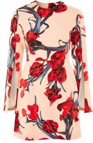 Topshop Manga print split sleeve a-line dress