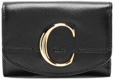 Chloé The C Logo Leather Wallet - Womens - Black
