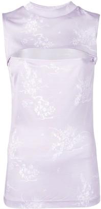 Priscavera open chest floral vest