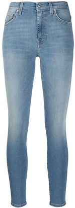 7 For All Mankind HW mid-rise skinny jeans