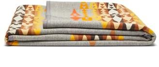 Pendleton Rio Chama Wool-blend Jacquard Blanket - Grey Print