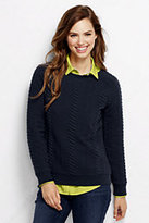 Classic Women's Cable Jacquard Top-Radiant Navy