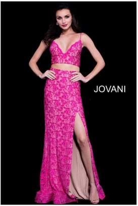 Jovani Pink Two Piece