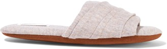 Skin Berkley Melange Cotton-blend Slippers