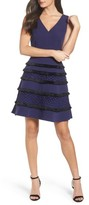 Adelyn Rae Women's Stripe Fit & Flare Dress