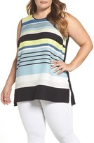 Vince Camuto Plus Size Women's Harmony Stripe Top