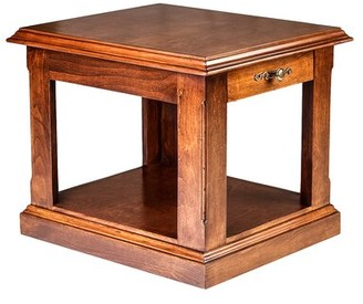 "Loon Peak Meeks 26"" End Table with Storage Color: Spice Alder"