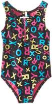 Roxy Little Girls' Pop Logo Zip One Piece