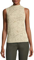 Lafayette 148 New York Sleeveless Knitted-Lace Top