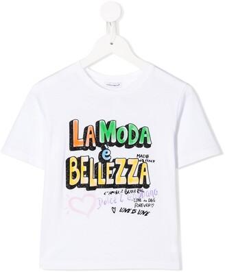 Dolce & Gabbana La Moda e Bellezza printed T-shirt