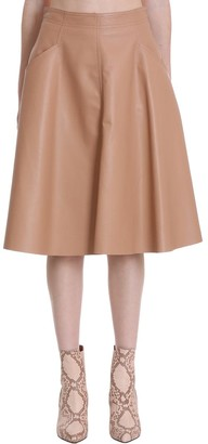Drome Skirt In Powder Leather