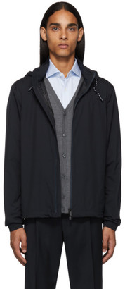 Ermenegildo Zegna Navy Zip Away Hooded Jacket