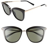 Le Specs Women's Caliente 53Mm Cat Eye Sunglasses - Black/ Gold