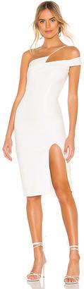 superdown Jillian Asymmetric Midi Dress