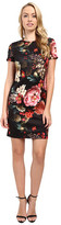 Christin Michaels Floral Print T-Shirt Dress