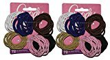 Goody Ouchless No Metal Gentle Elastics, Assorted Colors, 72 pack (2-Pack)