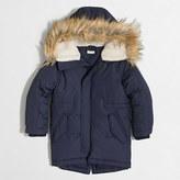 J.Crew Factory Kids' fishtail puffer jacket with faux-fur trim