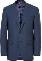 Canali - Blue Slim-fit Birdseye Super 120s Wool Suit Jacket