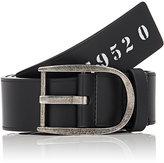 Givenchy Men's Bordered Leather Belt-BLACK