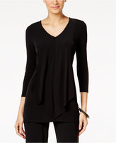 Alfani Petite Draped Layered-Look Top, Only at Macy's