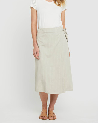 Bamboo Body - Women's Neutrals Midi Skirts - Woven Wrap Skirt - Size One Size, XS at The Iconic