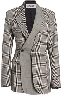 Monse Multi-Plaid Double Layer Jacket
