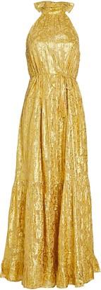 Saylor Alexi Floral Brocade Gown
