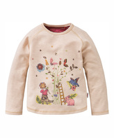 Oilily Beige Melee Tumble Tee - Toddler & Girls