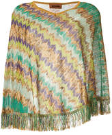 Missoni patterned poncho