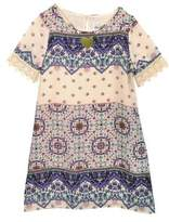 Rare Editions Girl's Printed Gauze Shift Dress