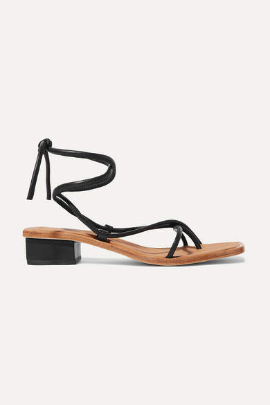 LOQ Ara Leather Sandals - Black