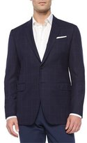 Paul Smith Two-Button Hopsack Wool Sport Coat, Navy