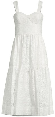 Rebecca Vallance Valentina Eyelet Fit-And-Flare Dress