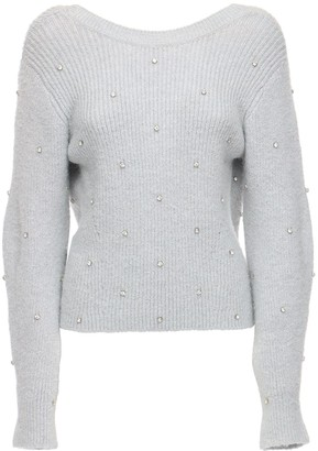 Self-Portrait Wool Blend Sweater W/ Crystals