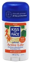 Kiss My Face Natural Active Life Stick Deodorant, 3 Count
