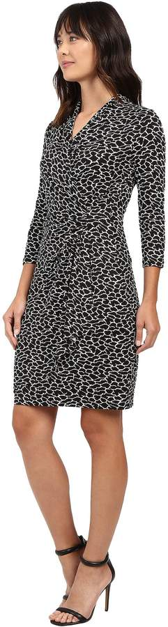 Karen Kane 3/4 Sleeve Cascade Wrap Dress
