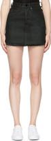 Marcelo Burlon County of Milan Black Denim Katt Miniskirt