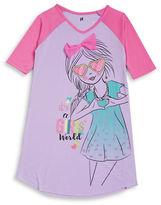 Petit Lem Girls Glitter World Nightgown