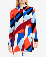 Vince Camuto Printed High-Low Shirt