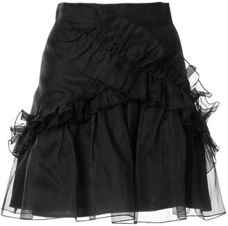 macgraw Souffle ruffle skirt