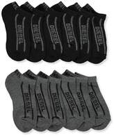 Diesel Boys' 6-Pack Low-Cut Ankle Socks