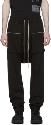 Rick Owens Black Long Drawstring Cargo Pants